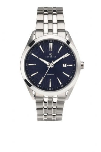 Accurist Men's Classic Silver and Blue Watch